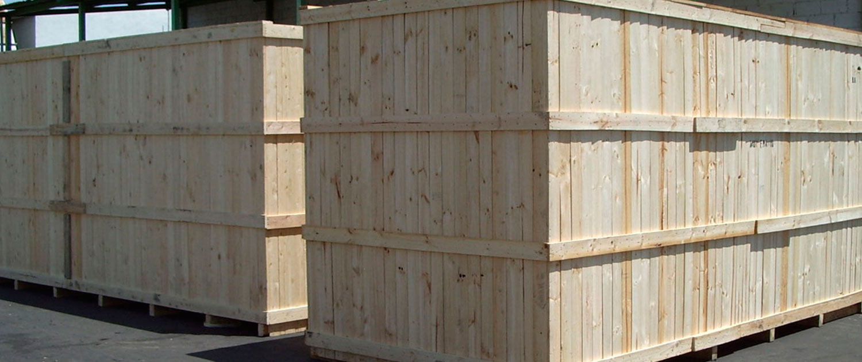 contenedores de madera para embalajes