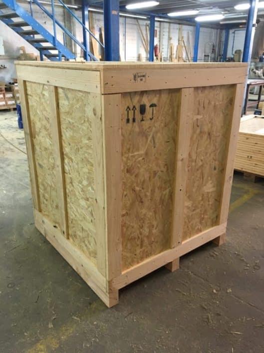 caja de madera para transporte marítimo