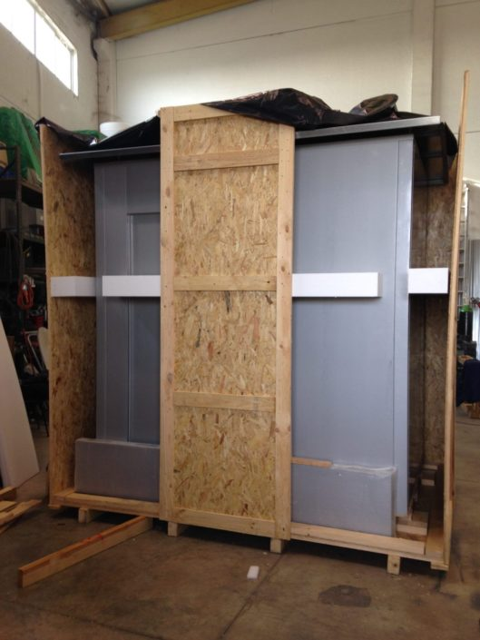 embalaje de madera para transporte marítimo