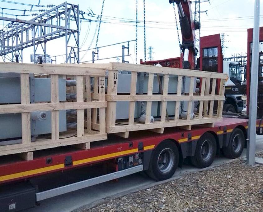 embalaje equipos electrónicos transporte terrestre
