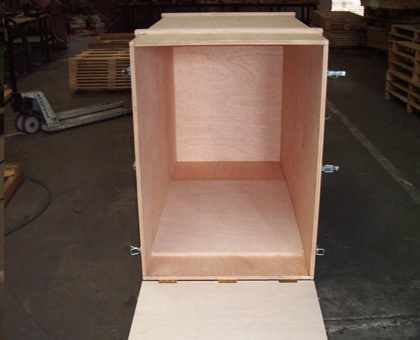 cajas madera para transporte mercancías