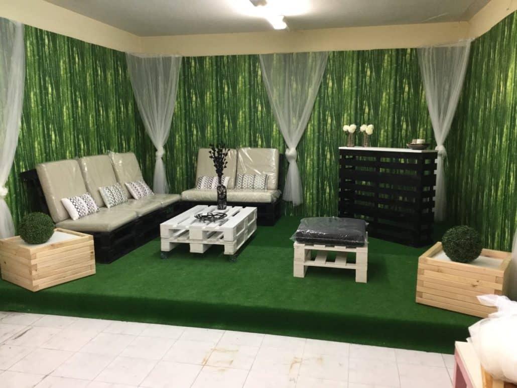 Venta de muebles hechos con palets embalajes nicol s - Mobiliario con palets ...