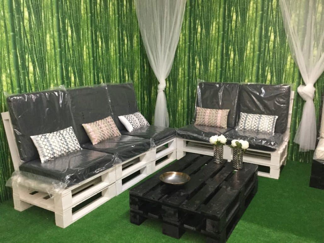 Venta de muebles hechos con palets embalajes nicol s for Muebles de jardin de palet