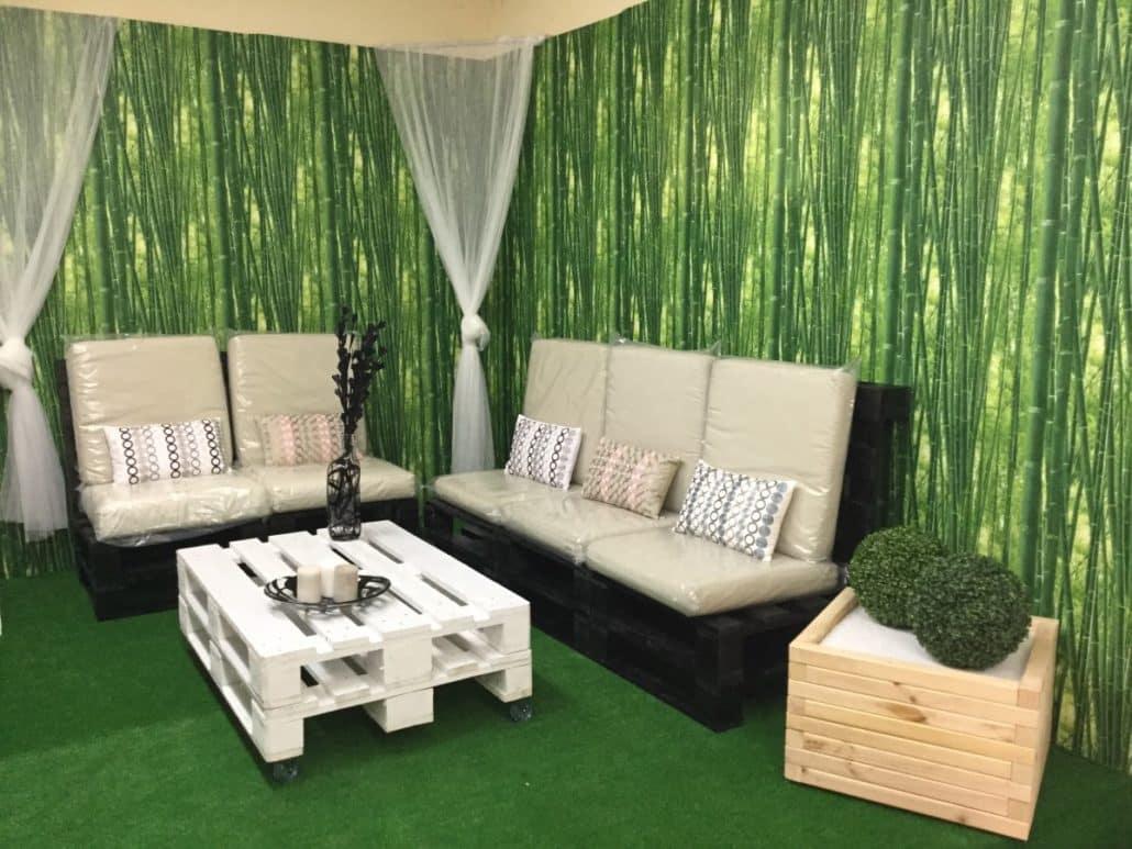 Venta de muebles hechos con palets embalajes nicol s for Mobiliario de terraza
