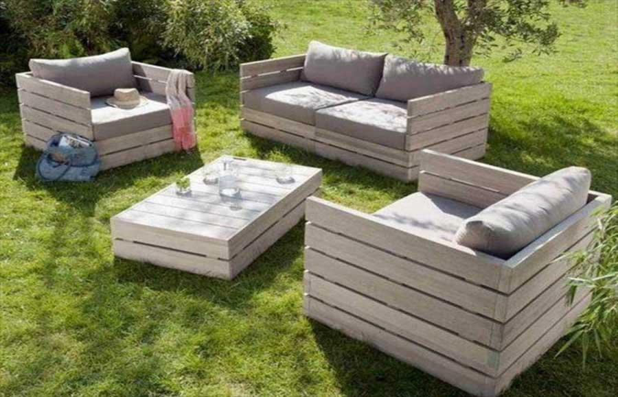 10 ideas para hacer sillones con palets embalajes nicol s - Sillon madera exterior ...