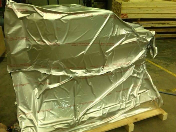 Acondicionamiento con bolsa de aluminio