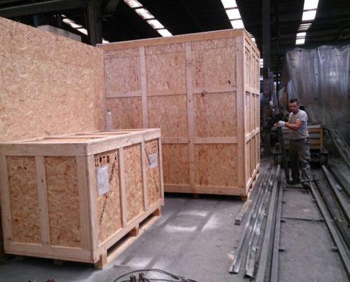 cajas de madera para exportación