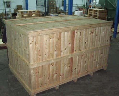 contenedores de madera para exportación