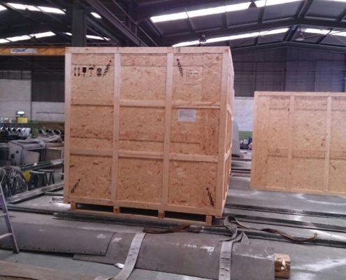 embalaje para exportar