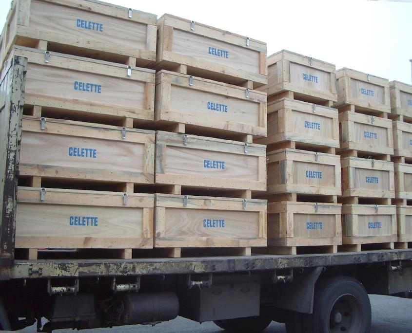 embalaje para transporte terrestre