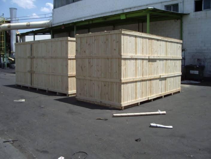 contenedores de madera