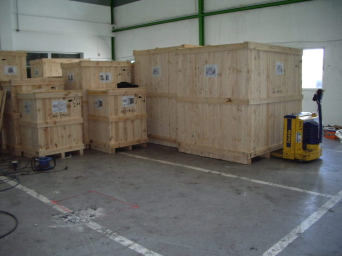contenedores de madera para embalaje