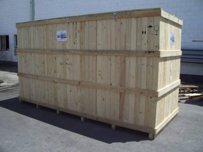 embalaje contenedores de madera