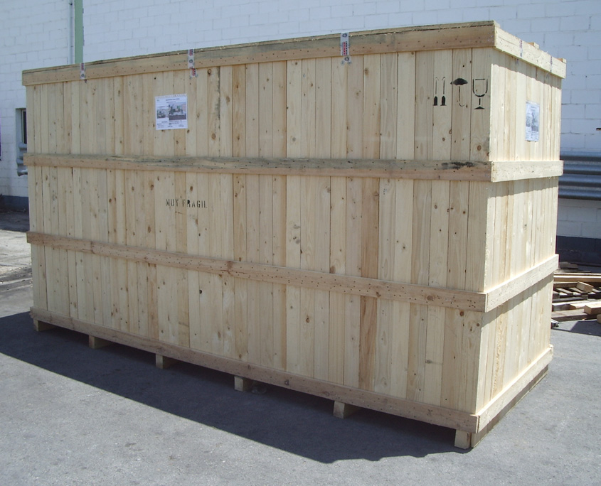embalaje industrial madera