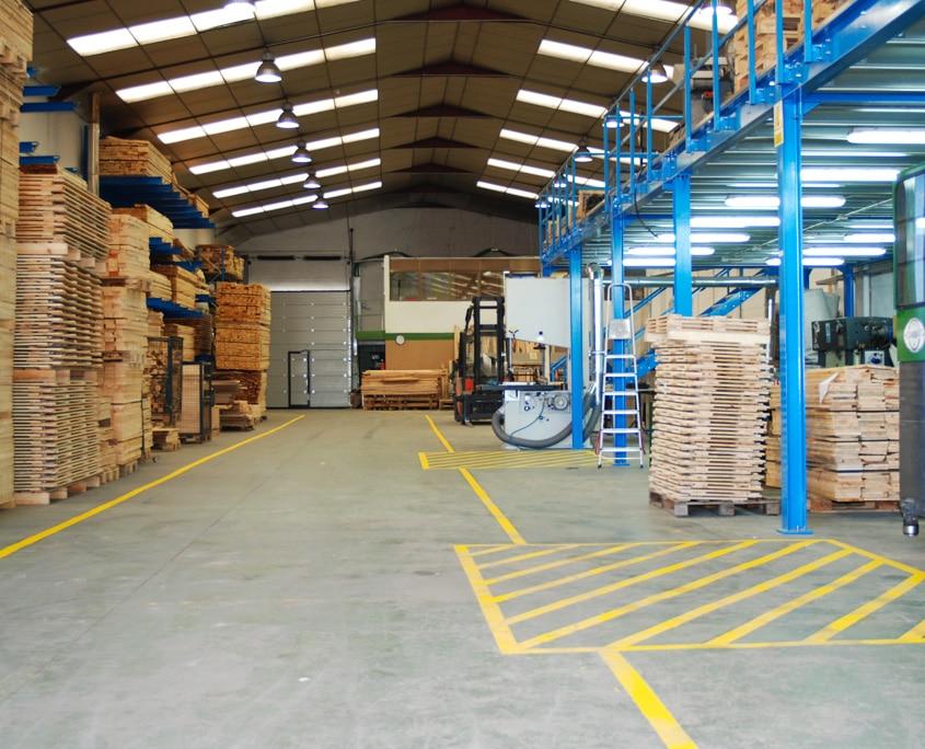 interior fabrica de palets