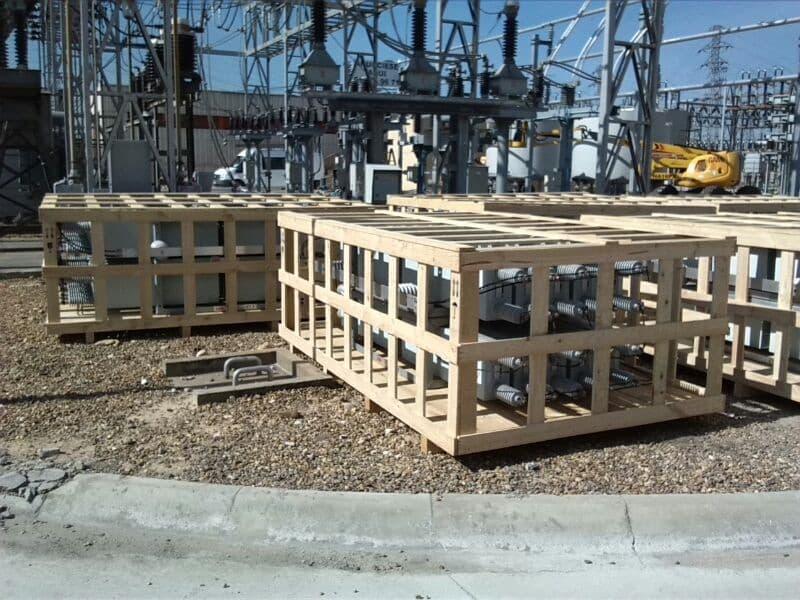 jaula de madera para embalaje