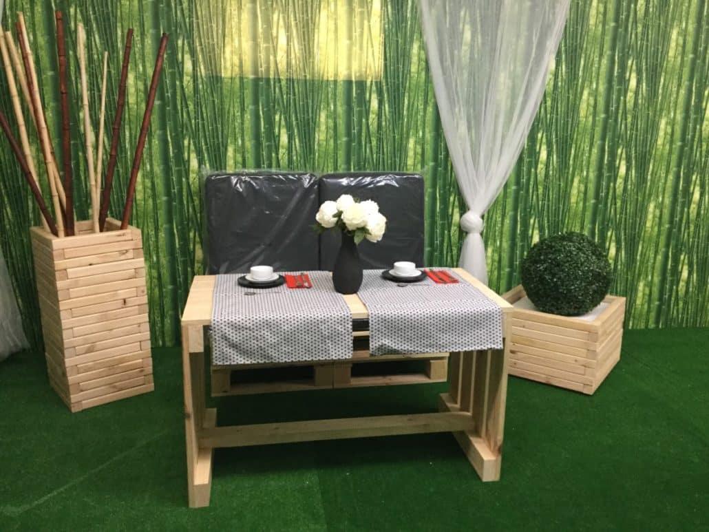 Venta de muebles hechos con palets embalajes nicol s - Muebles de jardin hechos con palets ...