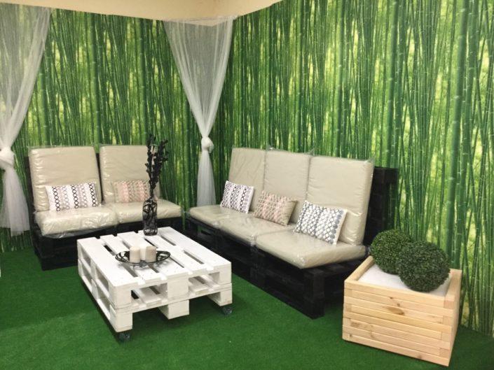 muebles con palets para terraza