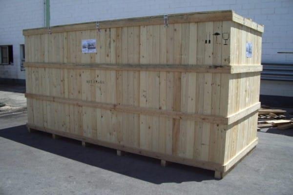 embalaje de madera