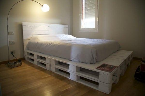 cama de palet con cabecero