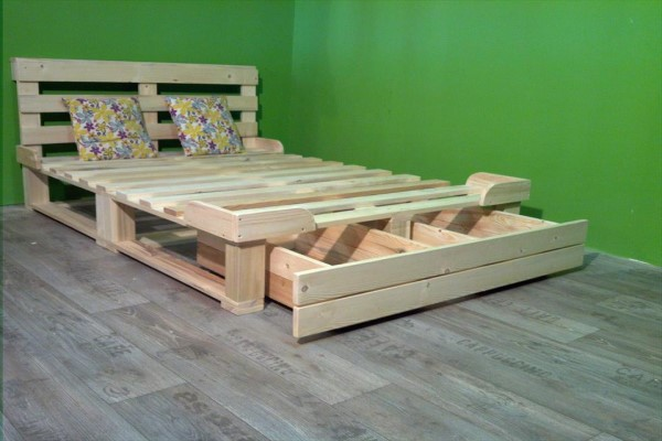 cama palet cajones integrados