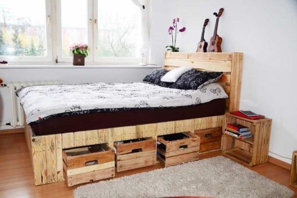 cama palet con almacenamiento