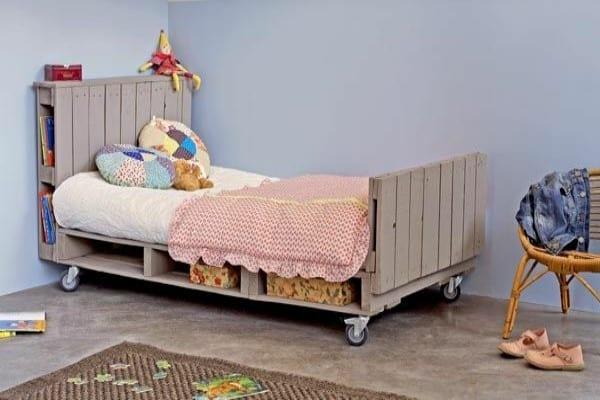 cama palets habitación infantil